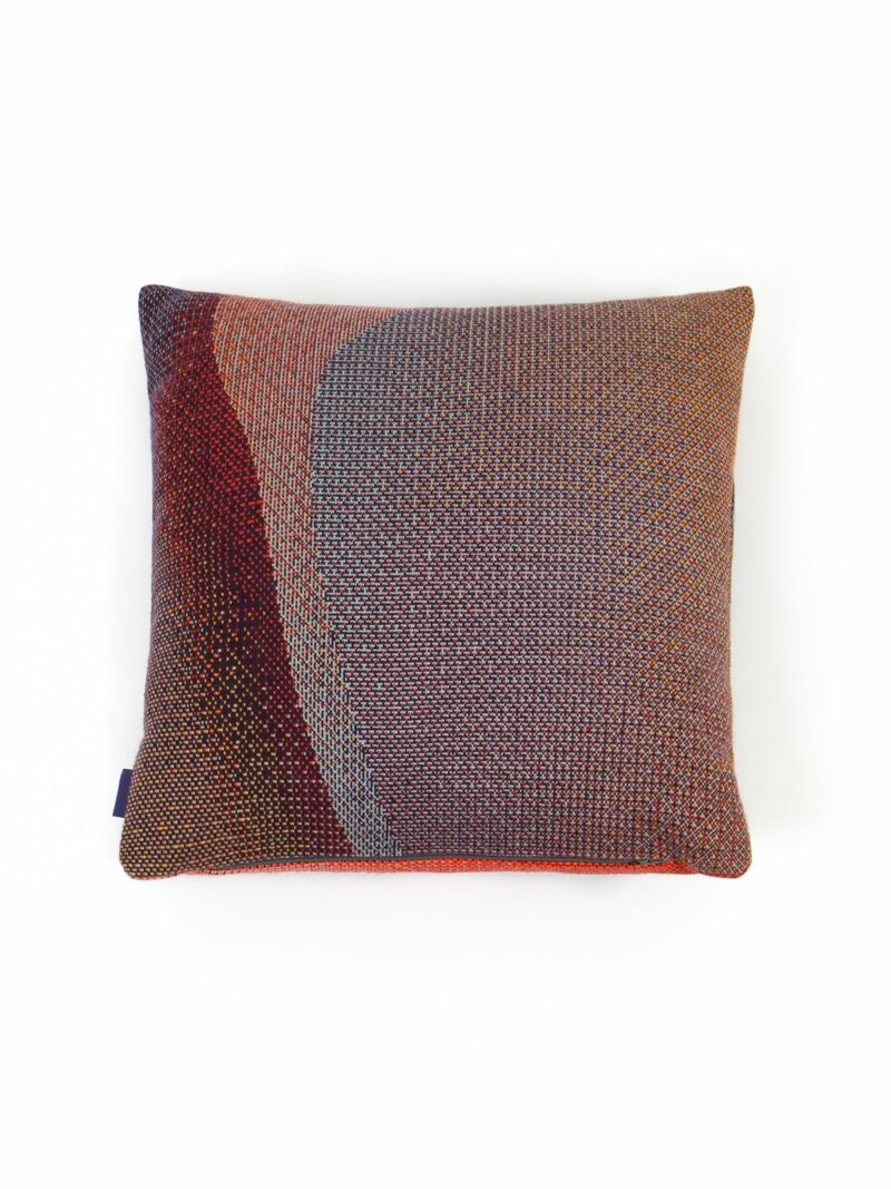 Knitted Cushion 50x50 Musselshell No2 - Merino Wool hinten