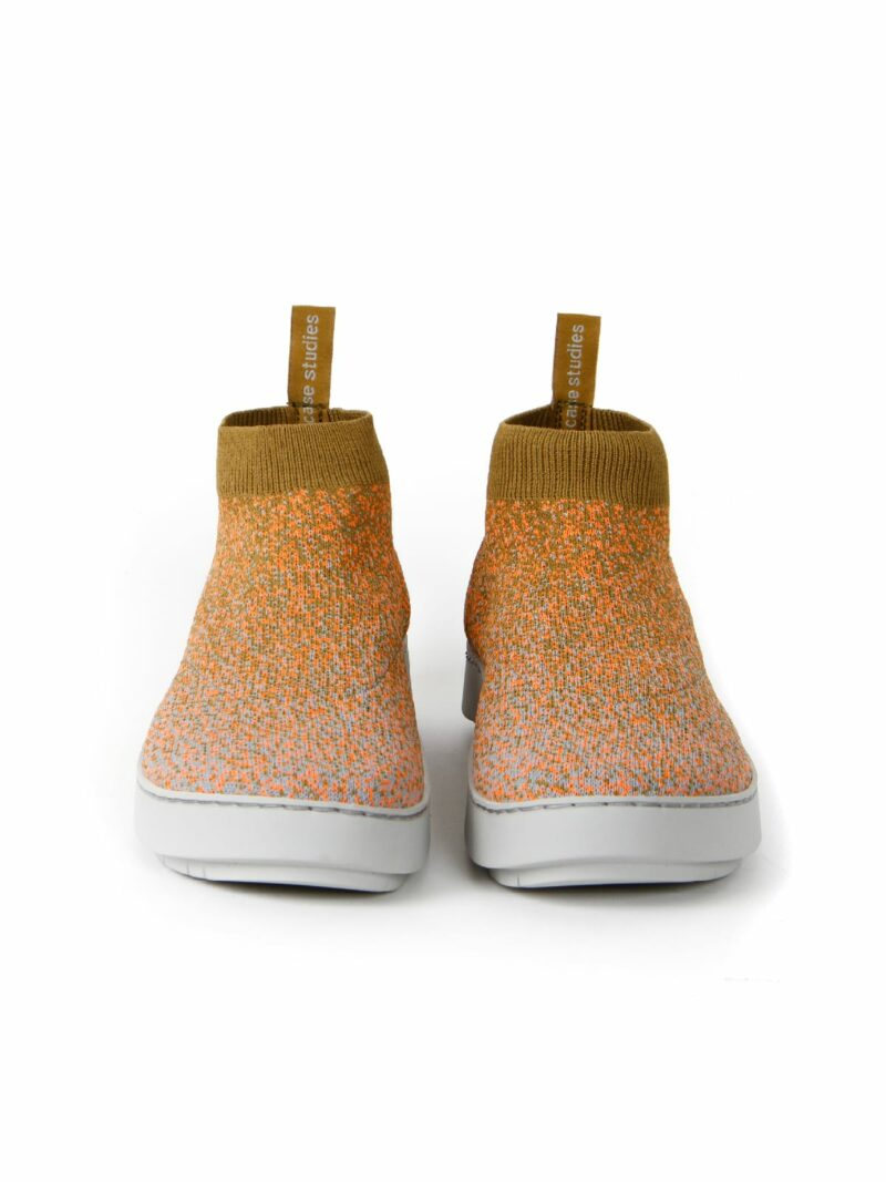 3D knitted sockboot Spexx papaya vorne