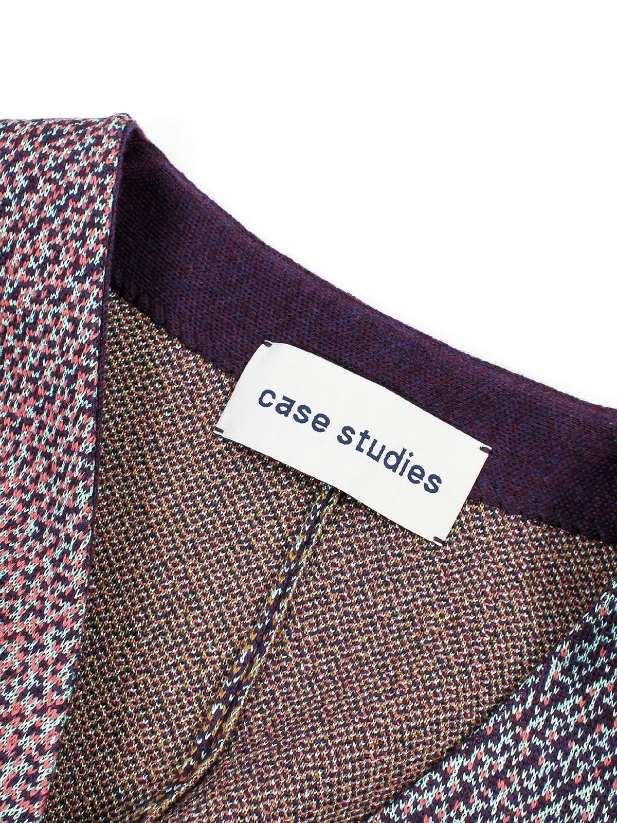 knitted Coat_Halfmoon Caye label
