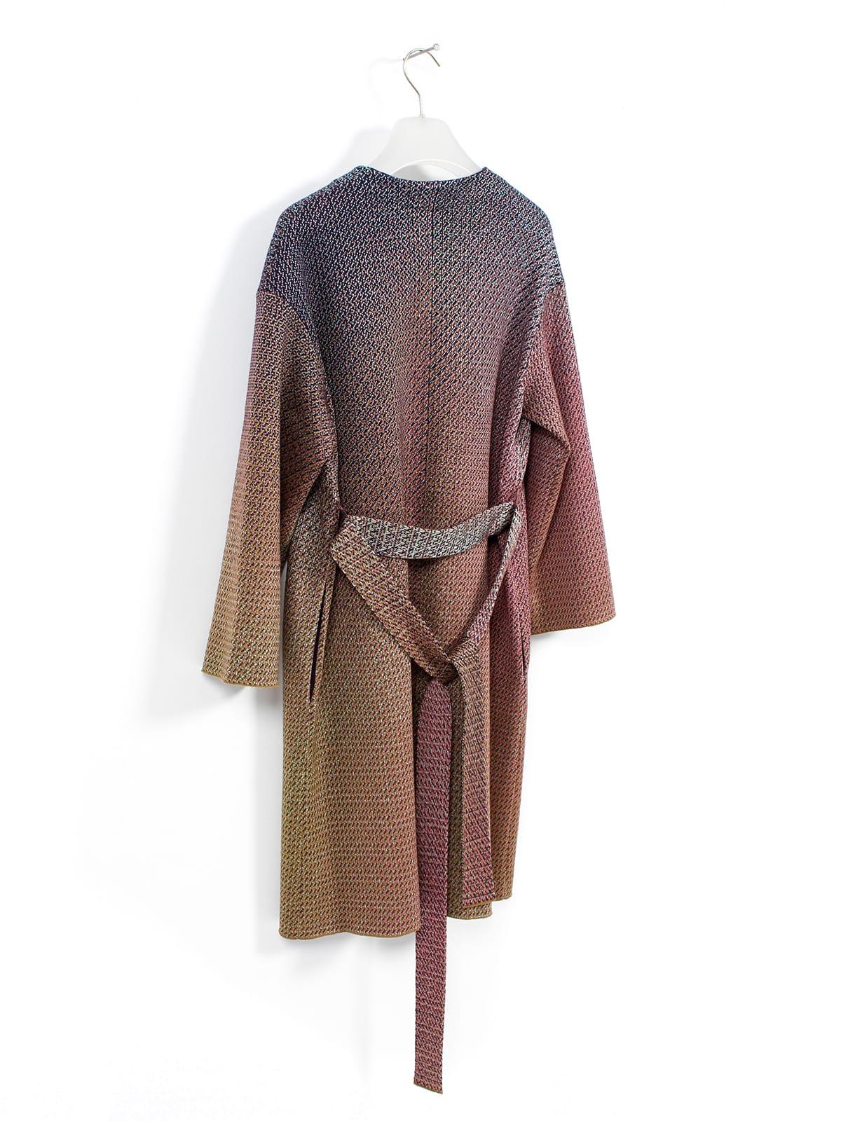 knitted Jacquard Coat_Halfmoon Caye back